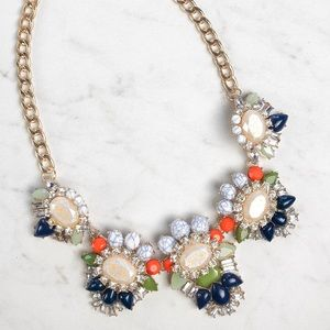 Navy and Green Fashion Necklace